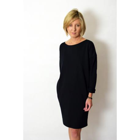 ALEGRA - cotton dress with short sleeves - khaki