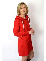 MARIO - Sweatshirtkleid mit Kapuze - rot