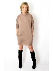 NEMO - Cotton dress with stand-up collar