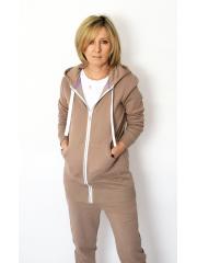 CHLOE - women's zip-up hoodie - khaki