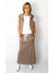 NURIT - skirt with a pouch pocket - mocha