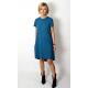 TESSA - A-shaped dress with short sleeves - denim