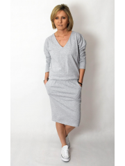 TAMARA - Baumwollkleid mit einem elastischen Band