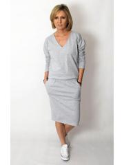 LIDIA - cotton dress with an elastic waistband