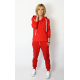 BOYFRIEND - women's sweatpants with buttons - red