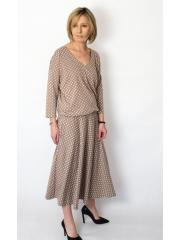 sukienka KENIA - groszki mokka