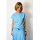 FOCUS - cotton women's T-SHIRT - light blue color