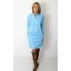 SAHARA - cotton dress with a stand-up collar - light blue color