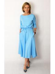 ADELA - Midi Ausgestelltes Kleid gestrickt - denim