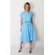 LUCY - Midi cotton dress - light blue color