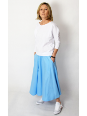 ALMA - 100% COTTON SKIRT - snake