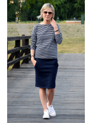 OLGA - sweatshirt with pockets - navy blue
