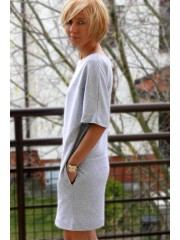 JACKIE - casual cotton tunic/midi dress
