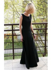 SWING - lange 100% Baumwolle Kleid / maxi