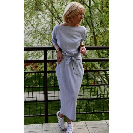 sukienka NINA - kolor SZARY