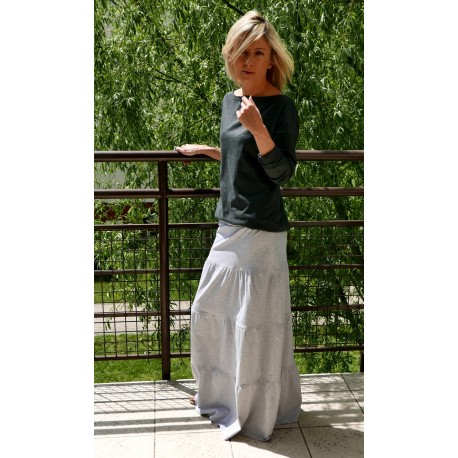 bd7bddb7592ec0 ZING - Long cotton / maxi Knitted skirt - Sisters (www.shopsisters.eu)