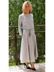 ADELA - Midi Ausgestelltes Kleid gestrickt