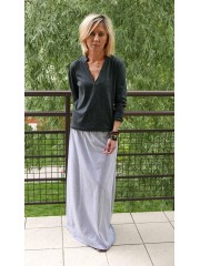 LULU - Knit long cotton skirt