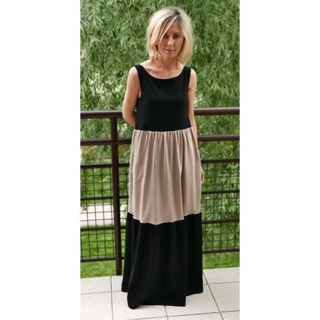 932d13174a3bc KLARA - Long/maxi two colors dress - Sisters (www.shopsisters.eu)