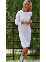 FOG - 100% cotton dress with stitching