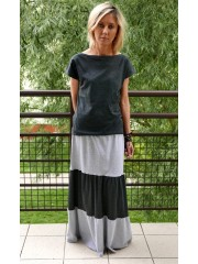 ZING - Long cotton / maxi Knitted skirt