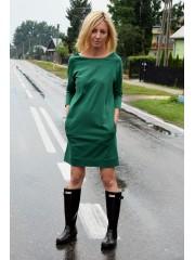 CARRIE - DZIANINOWA SUKIENKO-TUNIKA - zielona