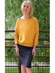 bluzka MARTHA - kolor MUSZTARDOWY