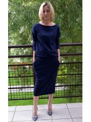sukienka MARA - kolor GRANAT