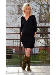 sukienka XENA - kolor CZARNY