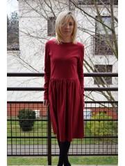 sukienka NEL - kolor BORDO