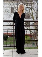 sukienka MADELEINE - kolor CZARNY