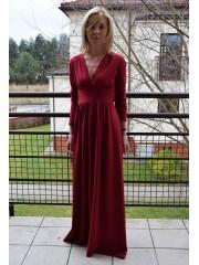 sukienka MADELEINE - kolor BORDO