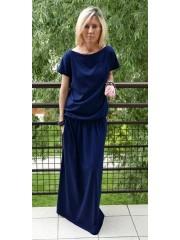 sukienka CLEO - kolor GRANATOWY