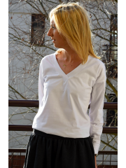 ZITA - knitted V-neck blouse - top