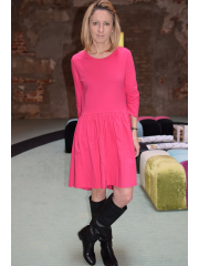 sukienka FROZE - kolor AMARANT