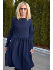 sukienka NEL - kolor GRANATOWY