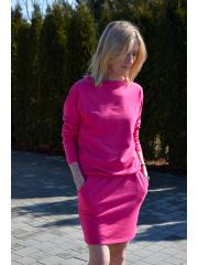 sukienka MESA - kolor AMARANT