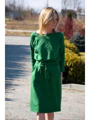 KIKA - cotton midi dress - green