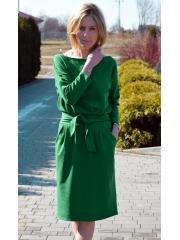 KIKA - cotton midi dress - green