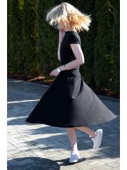 ANNA - Baumwollkleid mit kurzen Ärmeln