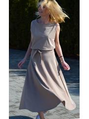 ADELA - Midi Flared Knitted dress