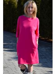 sukienka ROXI - kolor AMARANT / FUKSJA