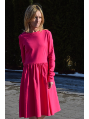 sukienka NEL - kolor AMARANT
