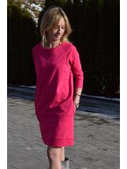 sukienka CARRIE - kolor AMARANT