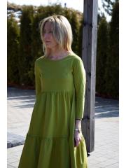 sukienka FLOWER - kolor OLIWKA