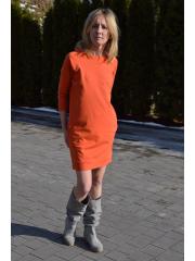 sukienka CARRIE - kolor POMARAŃCZOWY
