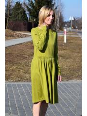 sukienka NEL - kolor OLIWKOWY