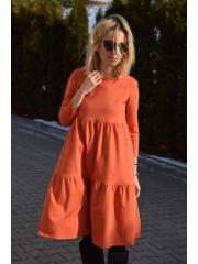 sukienka FLOWER - kolor POMARAŃCZ