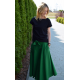 KLAUDIA - KNITTED SKIRT FROM THE WHEEL 7/8 - green