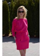 sukienka ISABEL - kolor amarantowy
